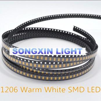 1000 sztuk LED SMD 1206 ciepłe białe diody LED w diody Super jasne diody smtLight woda wyczyść DIY 2800-3200K tanie i dobre opinie XIASONGXIN LIGHT CN (pochodzenie) Nowy 20ma 3 0-3 6v 1206 Warm white 3 2*1 6*0 8mm Do montażu powierzchniowego