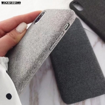 Ultra-thin Canvas Cloth Soft Silicone Phone Case For iPhone 6 6S 7 Plus X 1