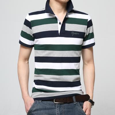 Nuevo 2016 de Los Hombres de la Marca Polo Para Hombre V Cuello hombres Algodón de Manga Corta Camisa Masculina de Rayas Tees Envío Libre hombres