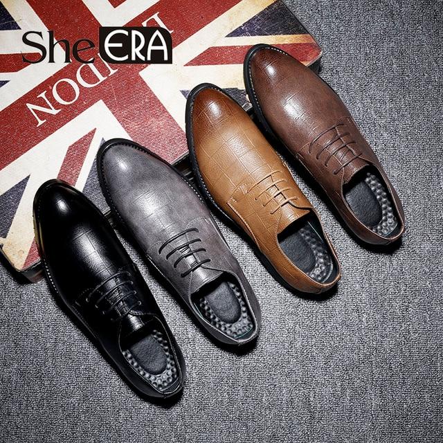 Chất Lượng cao Người Đàn Ông Giày Oxfords Nhân Tạo Da Giày Người Đàn Ông Chỉ Ngón Chân Mô Hình Lưới Giày Cho Nam Giới Zapatos Hombre Cộng Với size37-48