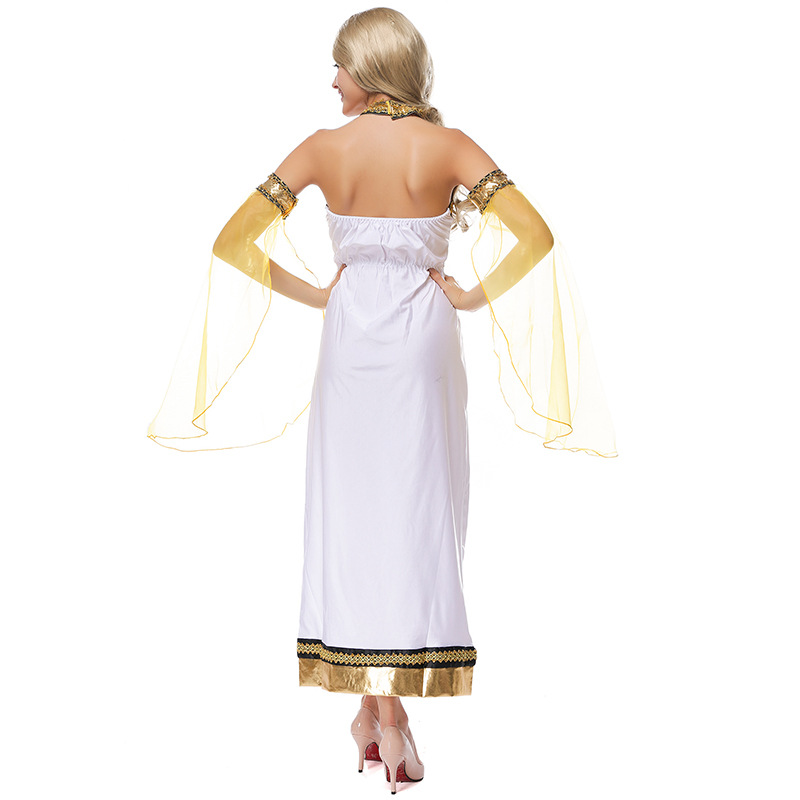 Roman Toga Greek Athena Goddess Ladies Womens Fancy Dress Costume Outfit