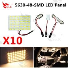 10x warm white Car 48 SMD 5630 LED panel Light Dome font b Interior b font