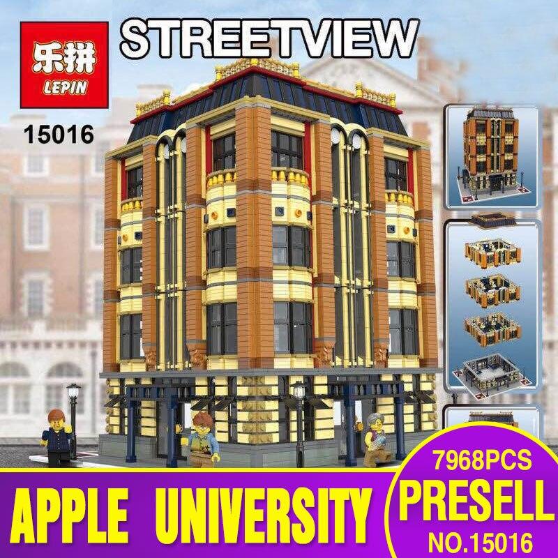 ФОТО lepin 15016 7968pcs moc creative creators series the apple university set building blocks bricks minifigures toys