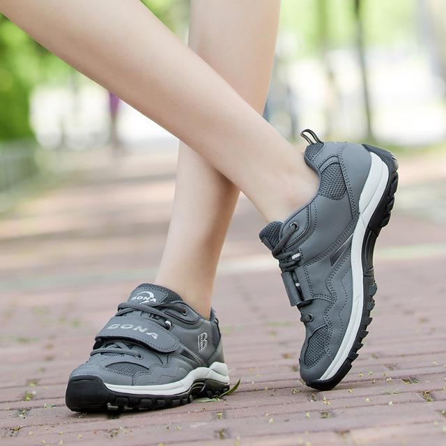 Nueva llegada de BONA, zapatos de senderismo de estilo clásico para mujer, zapatillas de Trekking para correr al aire libre, zapatos deportivos para mujer, al por menor