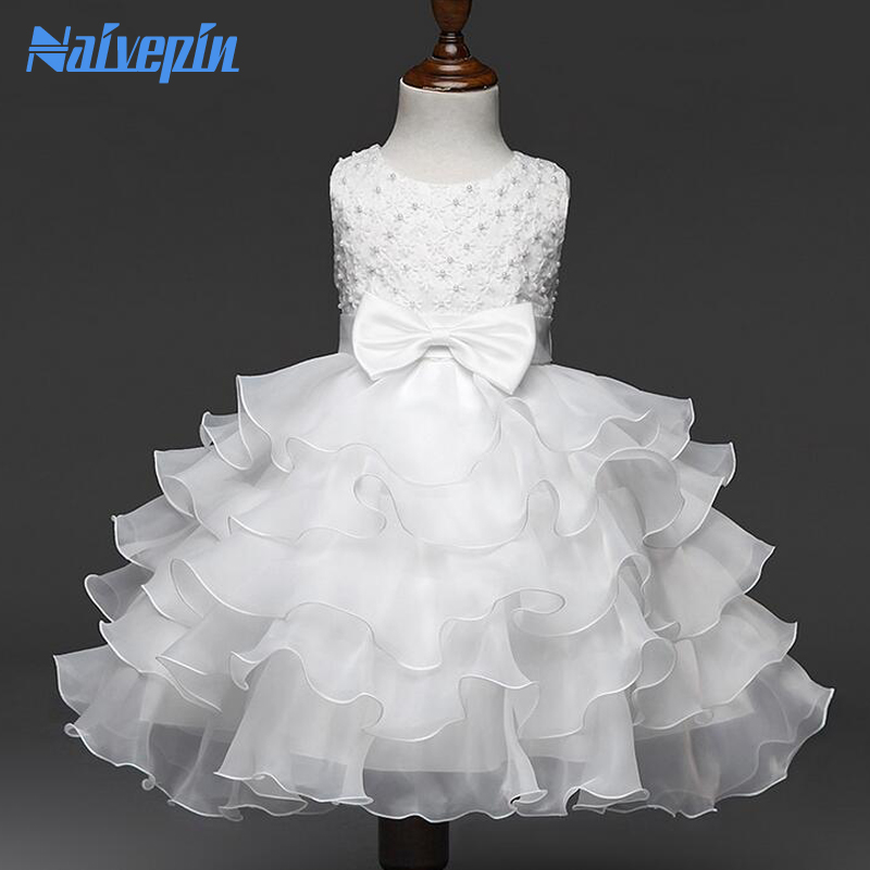 Flower Girl's Wedding Birthday Party Dress Fancy Infant Princess Costume for Kids Clothes Girl Child Christmas Holiday Dress christmas holiday flower girl dress butterfly princess children dresses for party wedding birthday gift