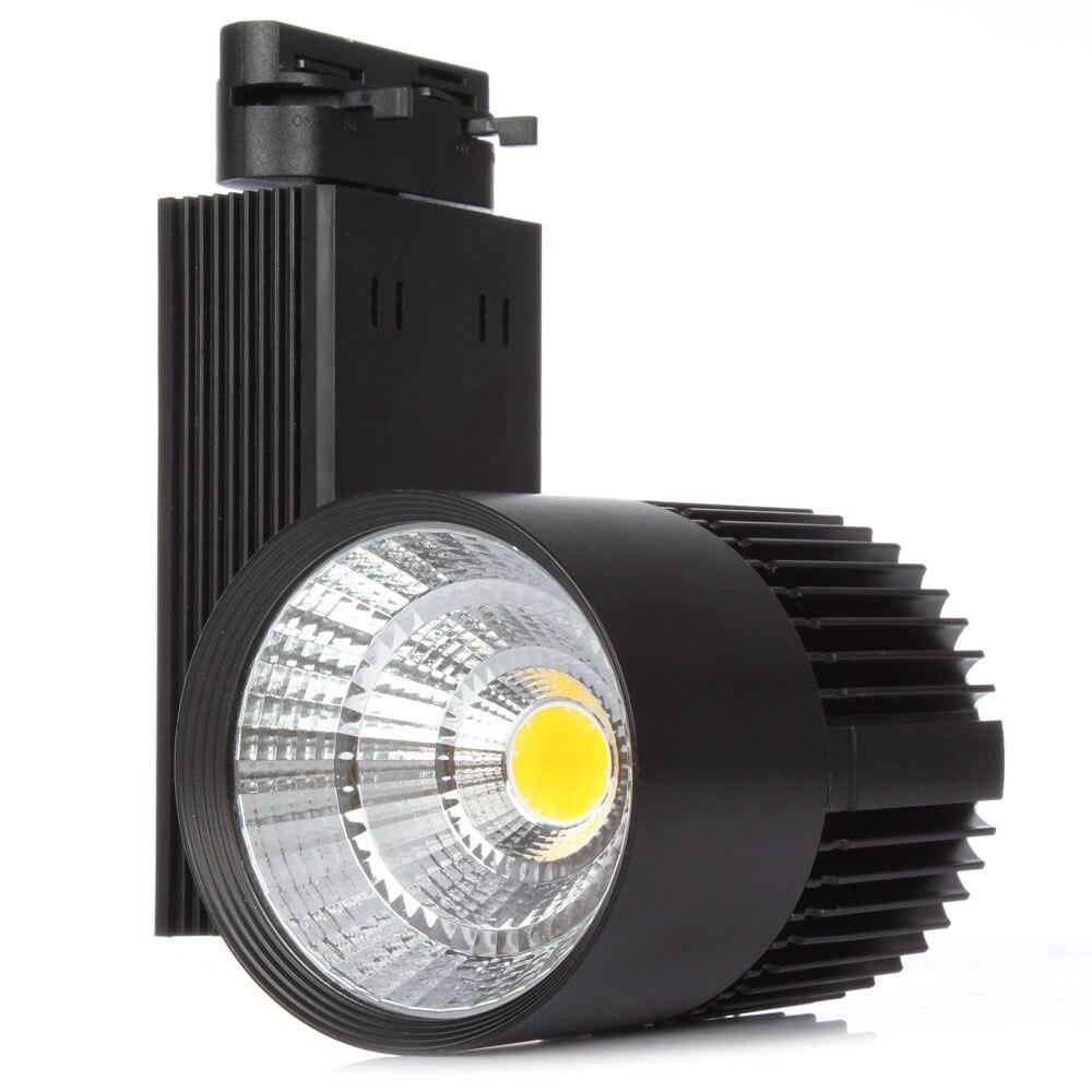 Us 38 0 1pcs 30w high power led track light for store shopping mall lighting lamp warm cold white spot light in track lighting from lights