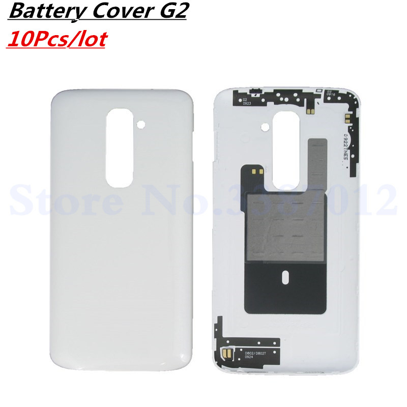 Vecmnoday 10Pcs Original 5.2 inches <font><b>Battery</b></font> Back Cover For LG G2 D800 D801 <font><b>D802</b></font> D805 Back <font><b>Battery</b></font> Housing With NFC Free Shipping