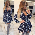 2016 Women Summer Dresses Full Sleeve Stand Neckline Sequins Soild Women's Dresses Casual Loose Mini A-Line Dress Plus Size S-XL