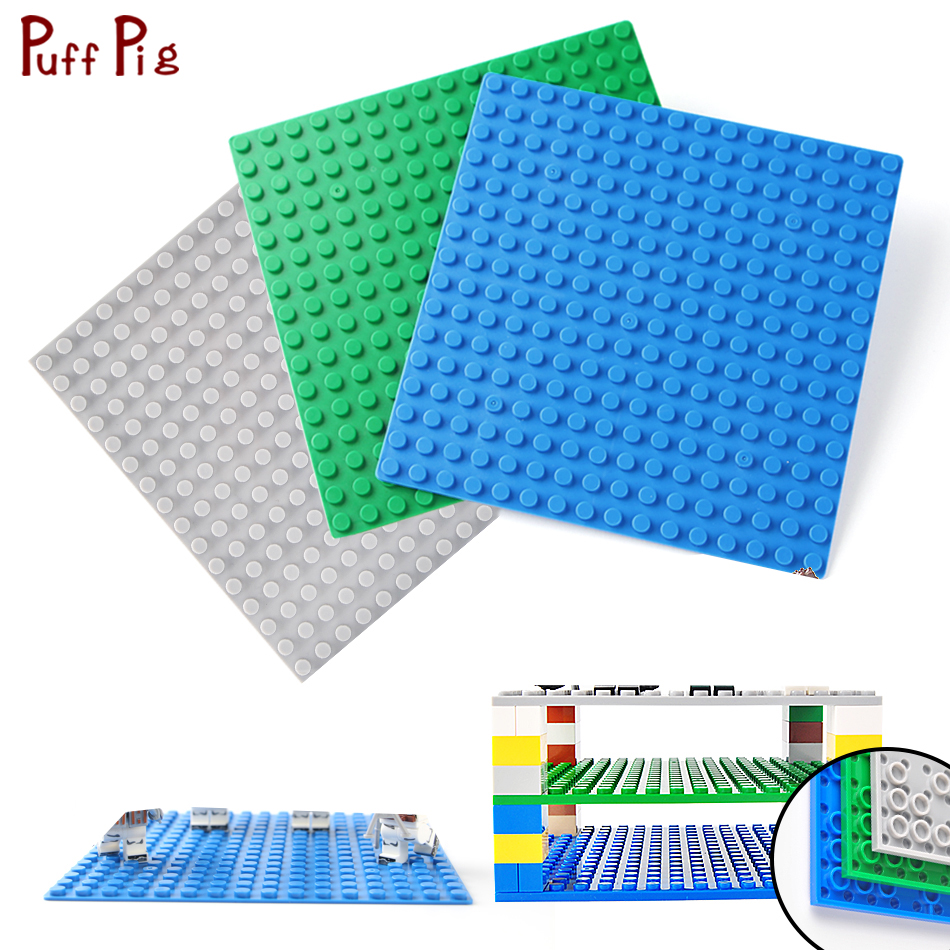16*16 Dots Double Side BasePlate Board City Ninja Technic Classic Building Blocks Legoingly Figures Toy For Children Friends