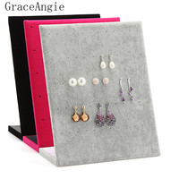 Fashion Good Craf Stud Earring Collection Jewelry Show Page Jewel Display Creative Jewelry Storage Box Organizer