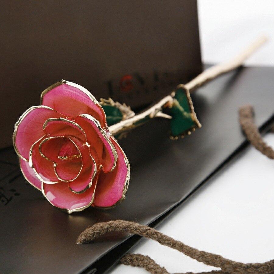 24 К золотая роза доставка из Китая