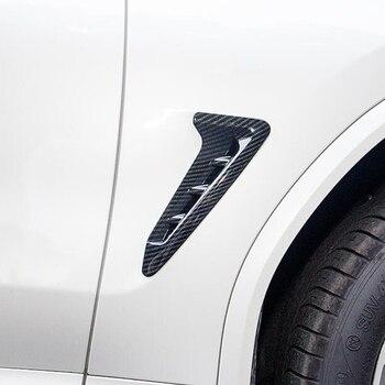 עבור BMW X3 G01 X4 G02 2018 2019 ABS Chrome סיבי פחמן רכב כנף ימין וצד שמאל תג פגוש סמל מדבקת כיסוי Trim