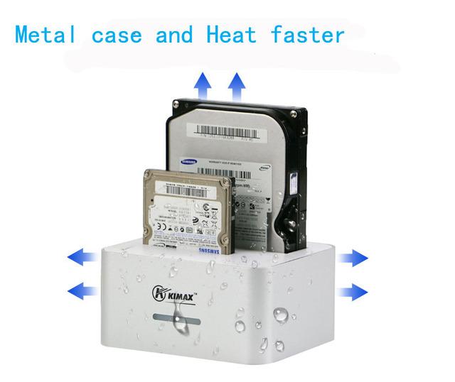 1 unidades blueendless 2 bahías de transferencia de alta velocidad usb 3.0 a sata HDD 2.5 caja 3.5 caja de 4 TB por DISCO DURO Recinto hdd docking HD07