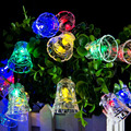 Global Solar Fairy String Light 20 LED Multi Color Bell Lights for Gardens, Lawn, Patio, Christmas Trees, Weddings, Parties