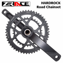 Zrace hardrock 2x10 /11/12 speed road chainset protetor de manivela da roda chain, 50/34t, 165mm/170mm / 172.5mm / 175mm, cárteres
