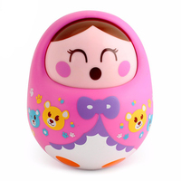 Wholesale 1pc Nodding Tumbler Doll Baby Yoys Sweet Bell Music Cute Roly Poly Early Childhood Educational