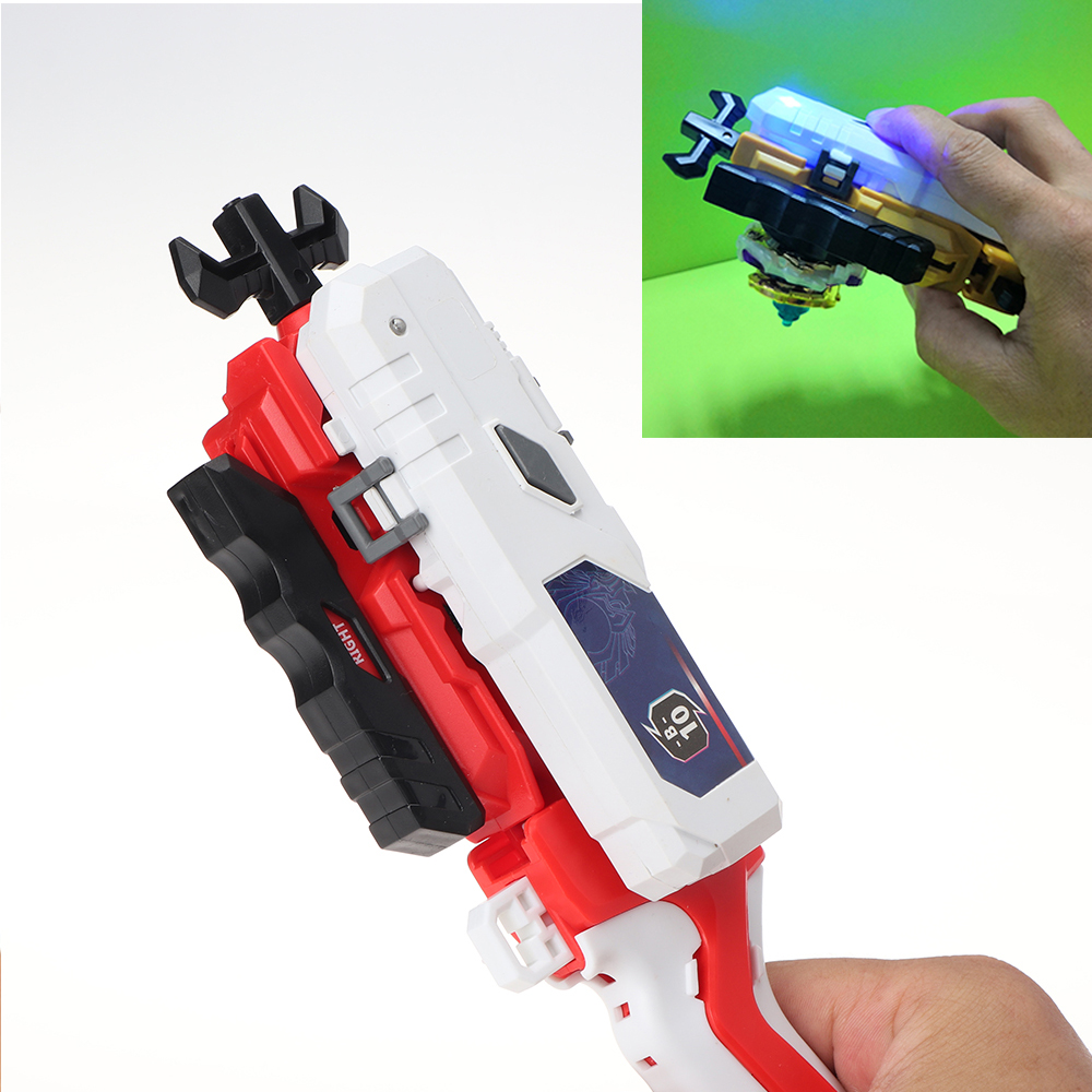 Beyblades Burst Launcher With LED Light For Combat Gyroscope Alloy Assembly Toy Accessories --013512