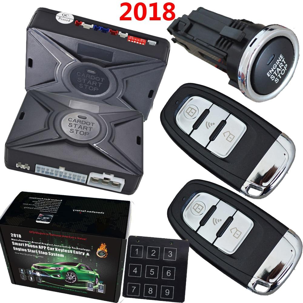 cardot pke car alarm system is with passive auto lock or unlock car door smart anti-hijacking rfid immobilizer anti theft system