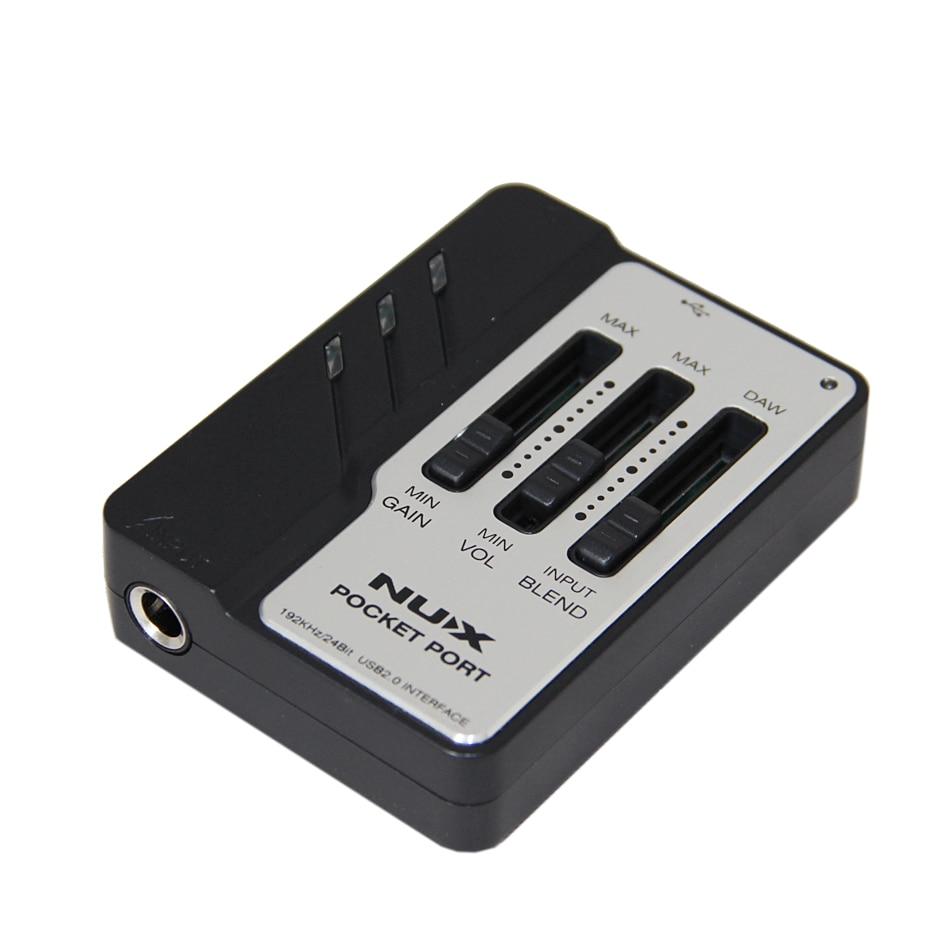 Gitara qeydləri üçün NUX Cib Portu 192kHz / 24bit USB Audio - Musiqi alətləri - Fotoqrafiya 3