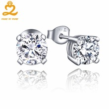 HeartByHeart Round 6.5mm Natural Topaz 925 Sterling Silver Stud Earrings for Women Wedding Anniversary Fashion Fine Jewelry