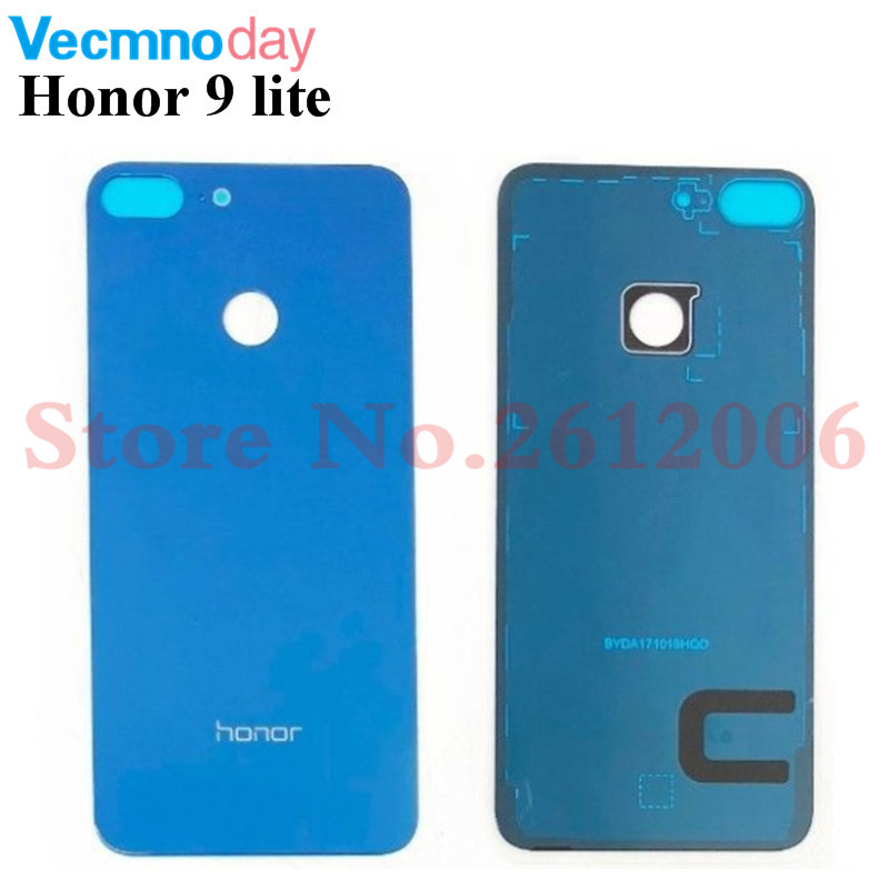 Vecmnoday For Huawei Honor 9 Lite Back Battery Cover Rear Door Housing Case Glass Panel Phone Replacement Battery Cover