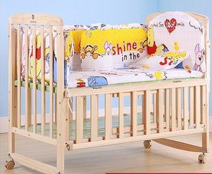 new 5 Pcs/sets baby bedding set cotton curtain crib bumper baby cotton sets baby crib setting bed arround bumper