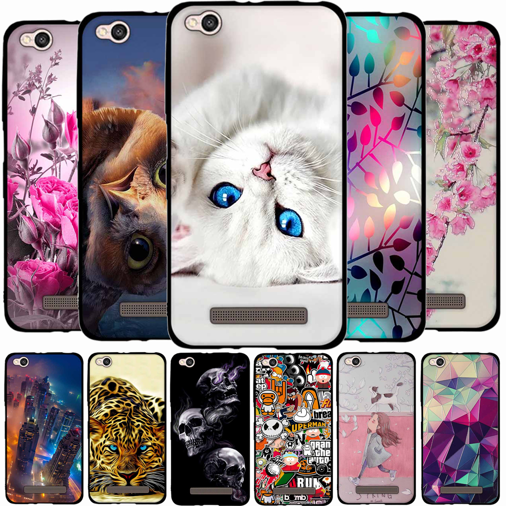 cheap for discount a829c 0468f 3D Pattern Cases For Xiaomi Redmi 4A Case TPU Soft Silicone Cover For Redmi  4a Back Cover Case For Xiaomi Redmi4A Redmi4a Coque