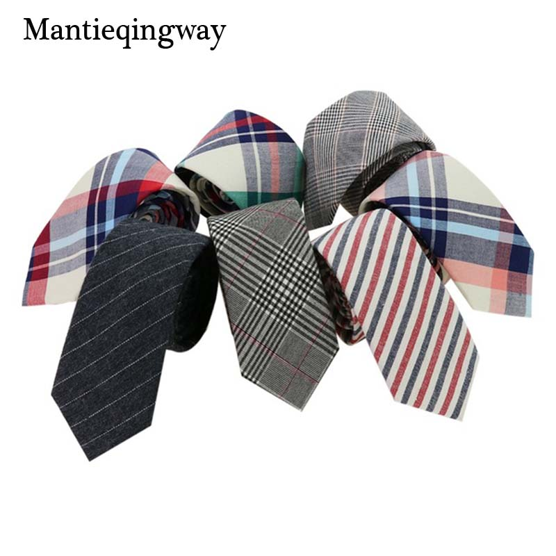 Mantieqingway Brand Plaid og Striped Men Skinny Slips Fashion Corbatas Plaid Neck Slips 6cm Smal Slips til Party Neck Slips til mænd
