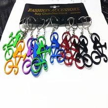 120 pçs cores misturadas bicicleta chaveiros anéis garrafa de vinho cerveja abridor barra ferramenta metal chaveiros