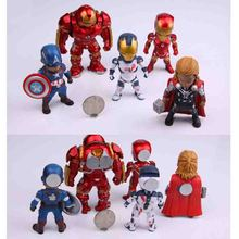 New 5pcs PVC powerfulThe Avengers series anime characters Marvel hero  3D fridge magnets Refrigerator Kids Gift
