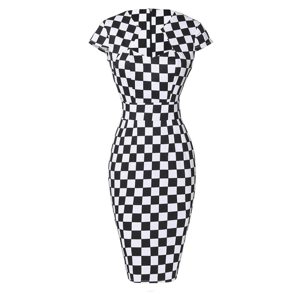 Сексуальное тонкое женское летнее платье, облегающее платье-карандаш из хлопка размера плюс 3XL, винтажное платье 50 s, платье для офиса, платье для работы - Цвет: 9