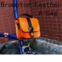 Aceoffix for Brompton Bike Leather bag A bag leather Bike Handlebar bag