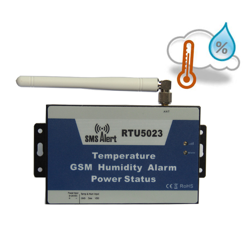 RTU5023 GSM Temperature Humidity Environment Alarm SMS Alert Remote Monitoring DC Power Timer Report APP Control With Sensor 16 ports 3g sms modem bulk sms sending 3g modem pool sim5360 new module bulk sms sending device