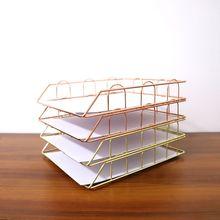 Складные из кованого железа, буквенный журнал, держатель для газет, стеллаж для хранения файлов, лоток для офисного стола, органайзер, принадлежности