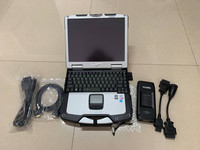 vcads for volvo truck diagnostic scanner pro software with laptop cf30 ram 4g touch screen pc full set ready to work
