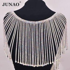 Image 2 - JUNAO 45 см/партия, блестящая металлическая лента для одежды