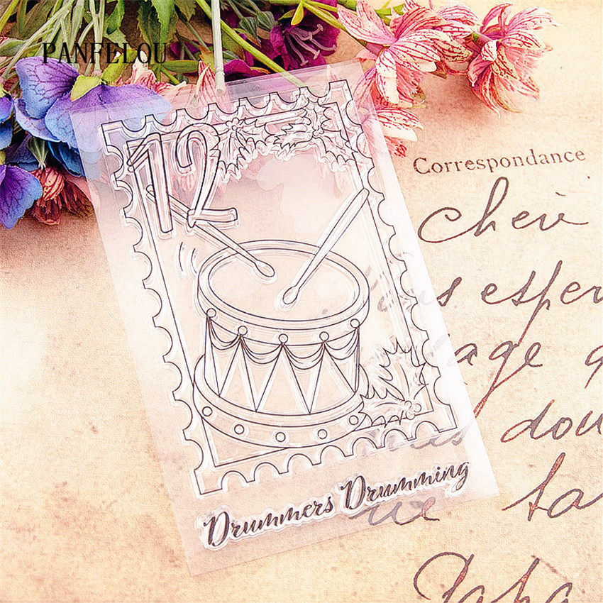 PANFELOU The circus drums stamps Transparent Silicone Rubber Clear Stamps cartoon for Scrapbooking/DIY Christmas wedding album