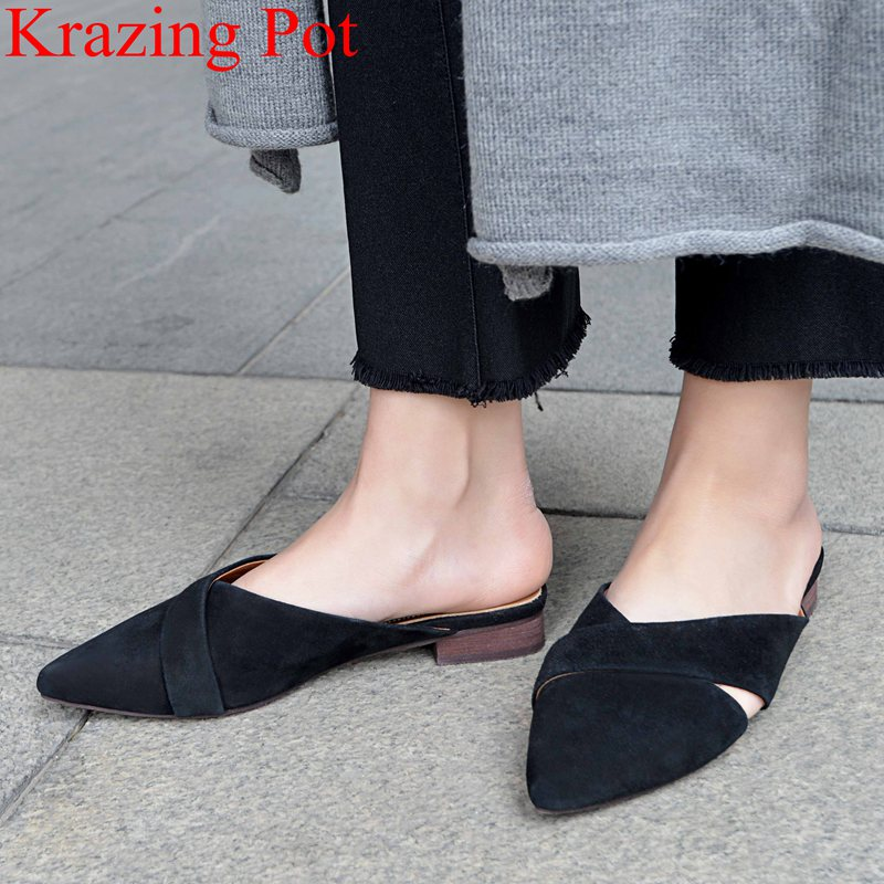 2019 new arrival vacation square heel sandals solid slingback big size mules sweet office lady slipper