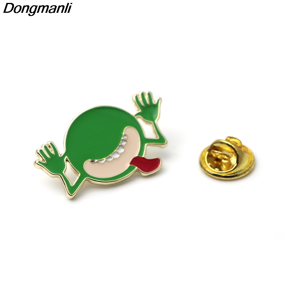 Dongmanli 20pcs/set Cartoon clothes pins THE HITCHHIKERS GUIDE TO THE GALAXY brooch enamel brooches badge for backpack M1914