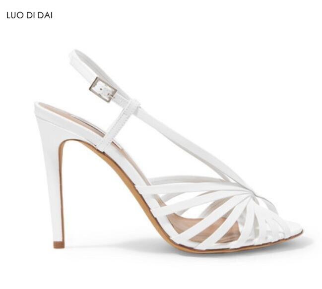 Mariage Boucle Talons Stilettos Soirée Sandales Chaussures Fretwork Mode Spartiates De Sangle Blanc Hauts Femmes 2019 q0Pzn