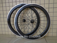 1pair New 700C 60mm clincher rim Road bike 3K carbon bicycle wheelsets with alloy brake surface aero spoke skewers Free shipping