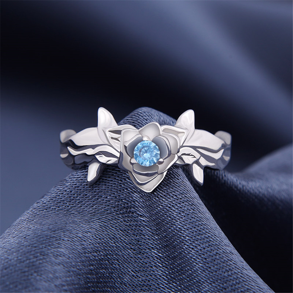 Anime Sword Art Online3 Alicization Eugeo Cosplay 925 Sterling Silver Ring Daily Cos Gift Adjustable: Sword Art Online Wedding Ring At Websimilar.org