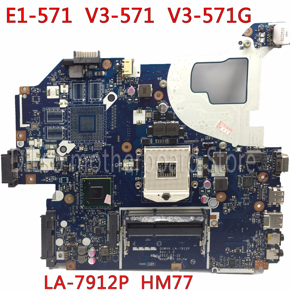 KEFU LA-7912P motherboard for ACER NE56R V3-571 E1-531 E1-571G NV56R laptop motherboard Q5WTC Q5WVH Q5WV1 LA-7912P HM77 tested kefu 11309 4m motherboard for acer aspire v5 531 v5 571 v5 571g laptop motherboard original tested mainboard