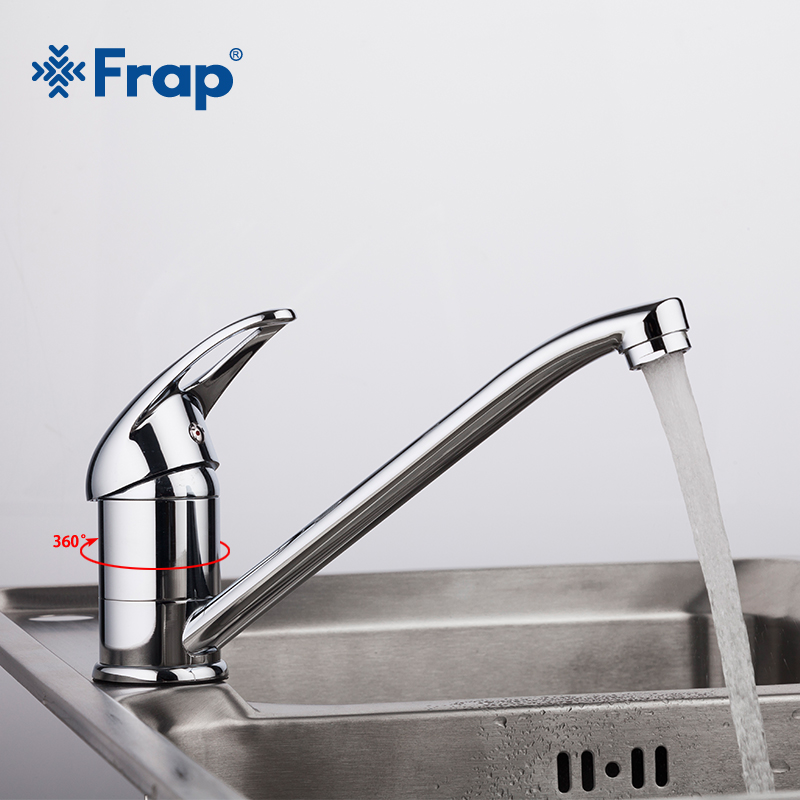 Frap New 1 Set Single Handle Brass Deck Mounted Kitchen Faucet Swivel 360 Degree Water Tap Kitchen Sink Faucet Robinet Cuisine