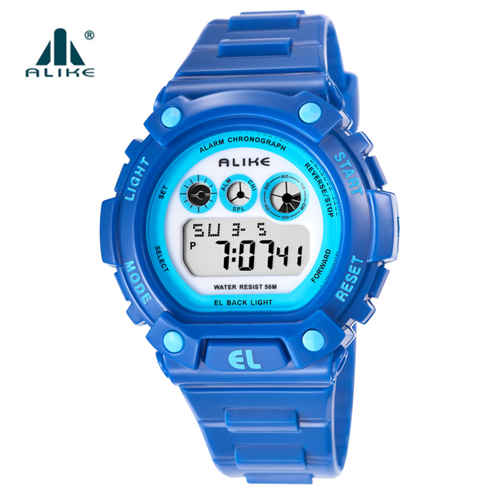 ALIKE S Shock Outdoor Children Sports Watches Quartz Digital Watch Military Waterproof Silicone Wrist Watch LED Clock G Style