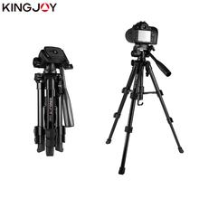 KINGJOY Officia VT-850 Light Video Tripod Kits Camera Stand Profesional Alloy With Rocker Arm Flexible Portable Holder