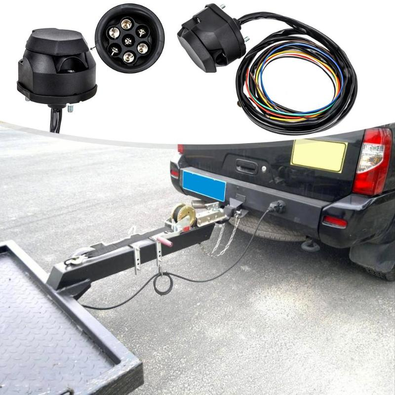 1.5 M 7 Hole Trailer  Socket  Electric Connecting Kit 7 Way Socket Connector With Cable Trailer Couplings Accessories