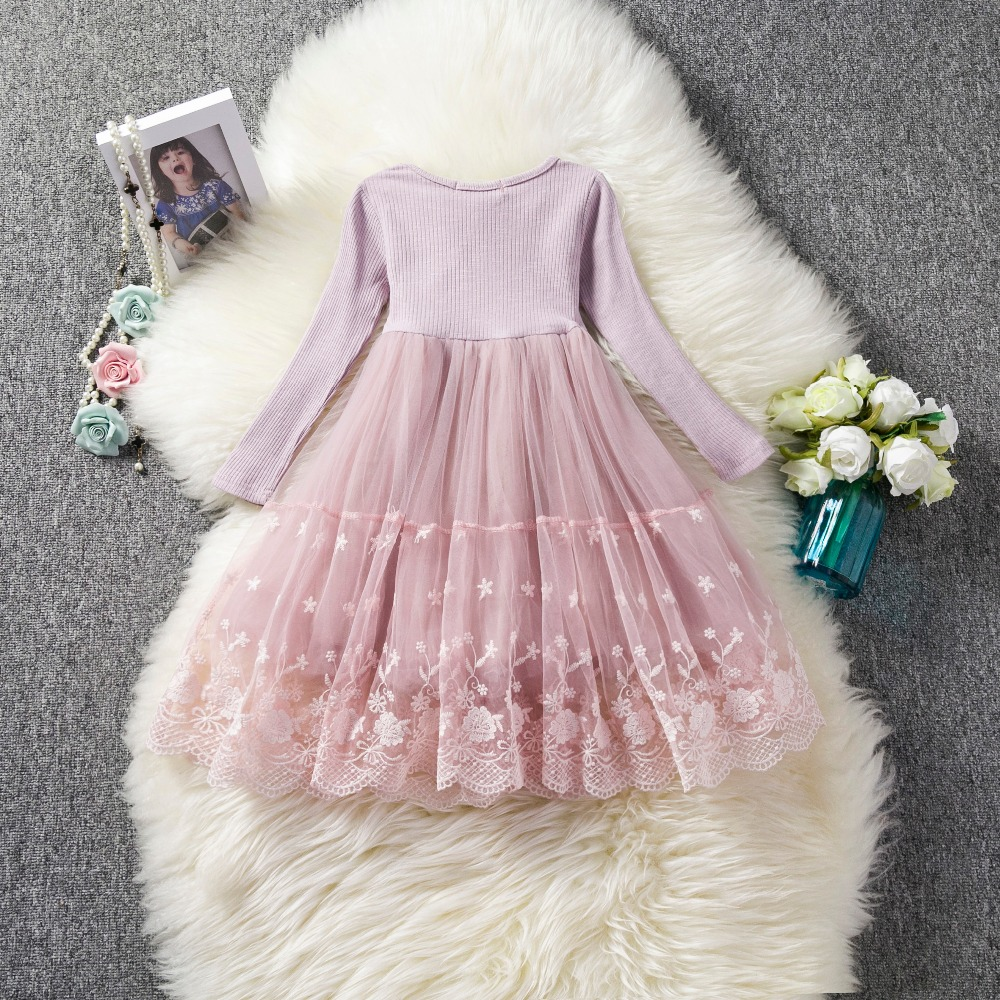 eb3e9637cfd1 Boutique Long Sleeve Baby Girls Christmas Dress Junior School Costume  Floral Girl Clothes Baby Girl 3 7Yrs Fluffy Party Vestidos-in Dresses from  Mother ...