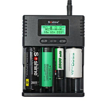 Hot Soshine H4 Digicharger LCD Display Battery Charger 4 Slot Car Cable For LI ion NICD NiMh 18650 14500 16340 26650 PK Nitecore