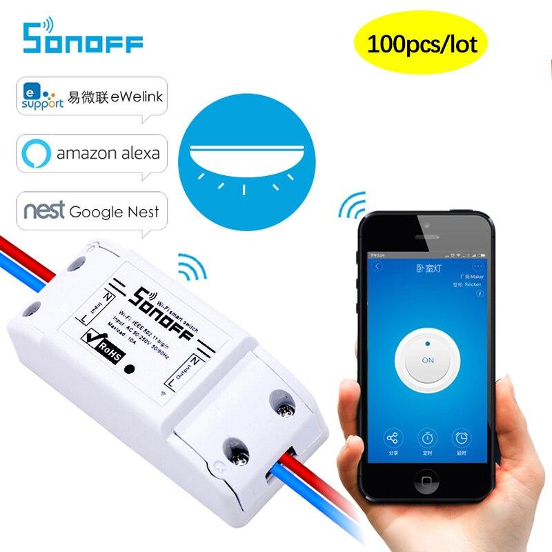 100 pcs SONOFF בסיסי אלחוטי Wifi מתג 10A AC90-250V מרחוק בקרת אוטומציה מודול ממסר DIY טיימר אוניברסלי חכם בית